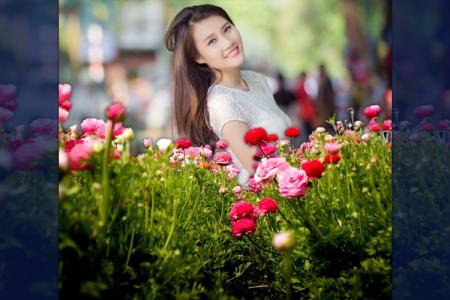 Ghép ảnh bạn vào vườn hoa