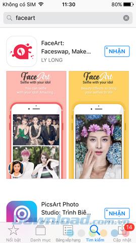 Tải ứng dụng FaceArt
