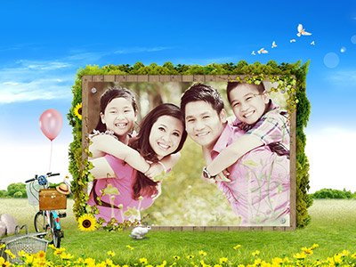 Khung ảnh phong cảnh gia đình
