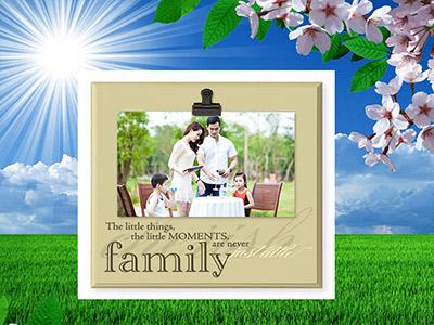 Khung ảnh gia đình đẹp