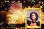 Khung ảnh pháo hoa mừng năm mới 2020
