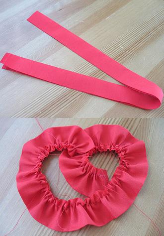 cách làm khung trái tim bằng hoa hồng vải