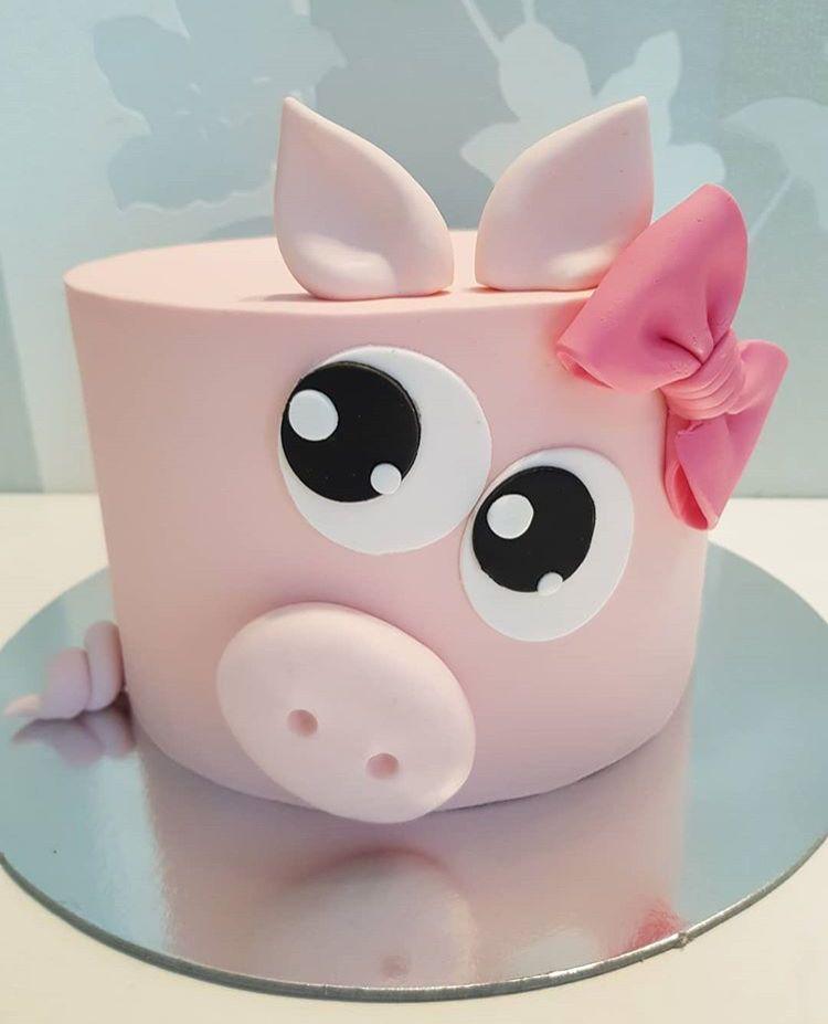 Bánh sinh nhật hình Con Heo dễ thương cho người tuổi Hợi - Bánh ...