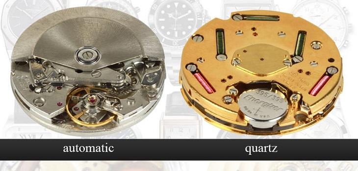 Bộ máy đồng hồ cơ và pin