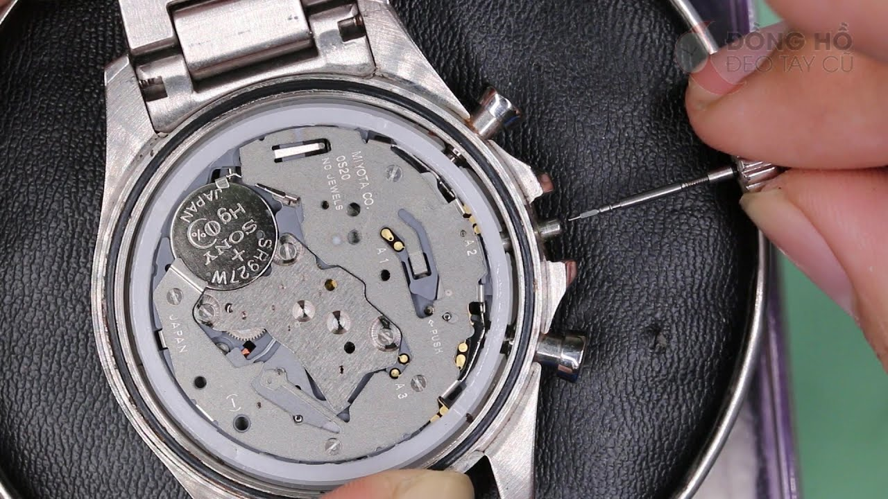 Hướng dẫn chi tiết tháo núm đồng hồ các loại máy pin và cơ phổ thông -  YouTube