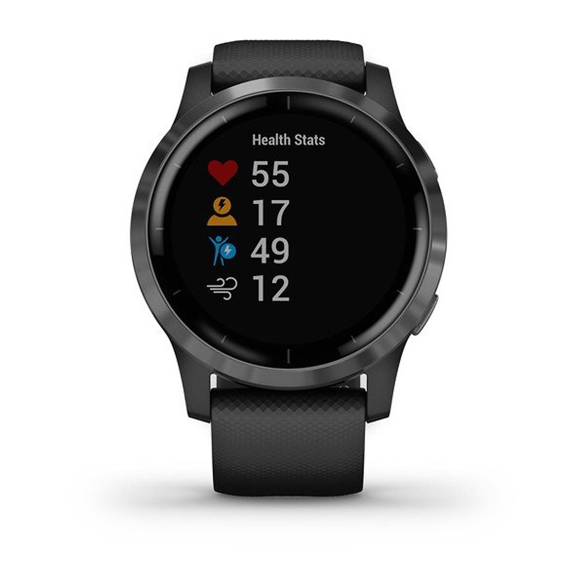 Đồng hồ thông minh Garmin Vivoactive 4 (Vỏ sợi polymer Đen/ Dây Silicon  Đen) - BenComputer