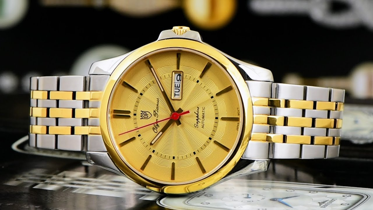 Đồng hồ OP #21   Review đồng hồ Olym Pianus 9909AMSK-V trẻ trung sang trọng  với mẫu dây demi - YouTube
