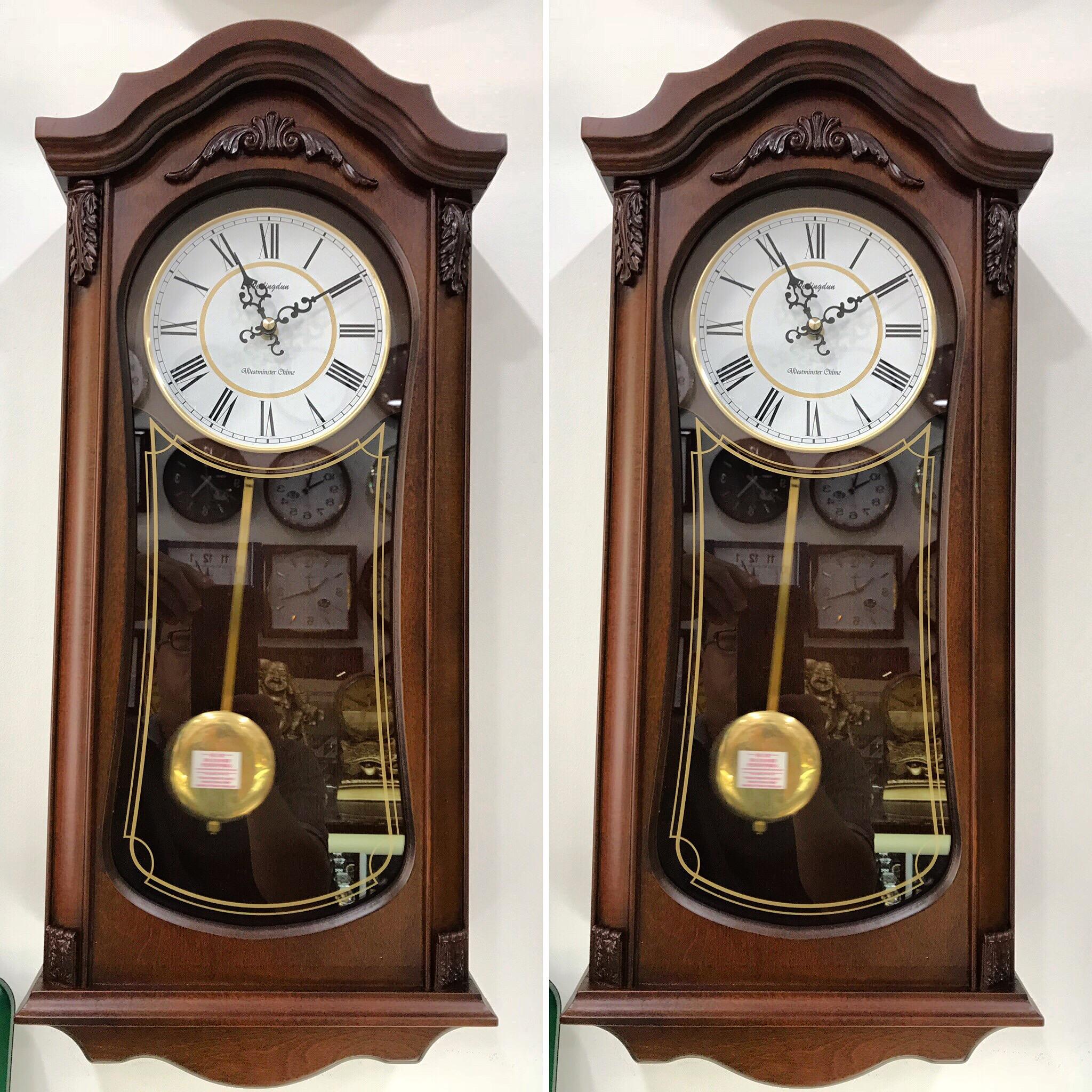 Đồng hồ quả lắc gỗ treo tường Wellington - Đồng hồ treo tường pin Hãng OEM    DangQuang.Watch